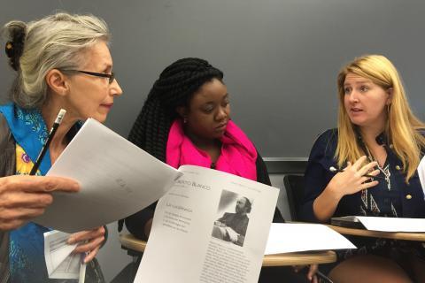 Teachers meet to discuss education
